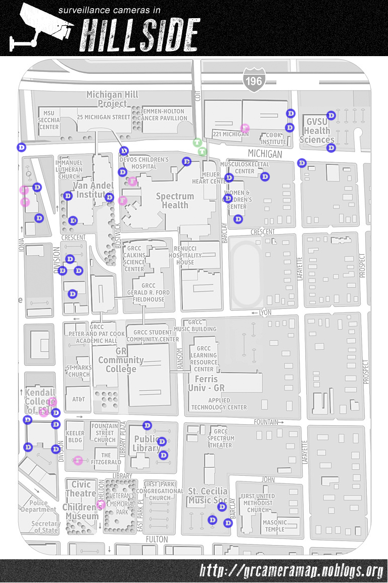Map Grand Rapids Surveillance Camera Map